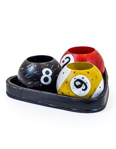 candle holder cue ball
